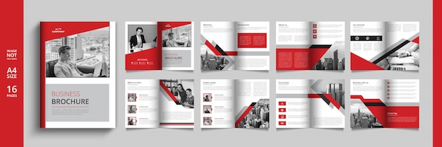 Modern business catalog or booklet template