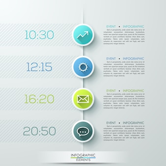 Modern business circle infographics template