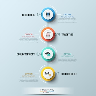 Modern business circle style process template