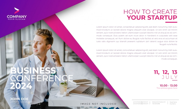 Modern business conference banner template