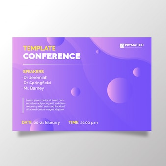 Modern business conference template with abstract background