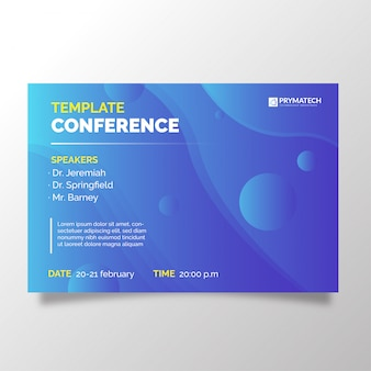Modern business conference template with degrade background