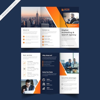 Modern business or corporate trifold brochure design