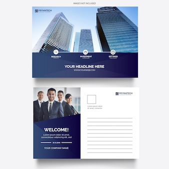 Modern business corporative card