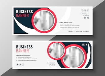 Modern business cover banner professinal red template
