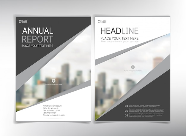 Modern business cover pages,  template with copyspace
