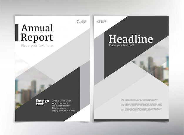 Modern business cover pages,  template