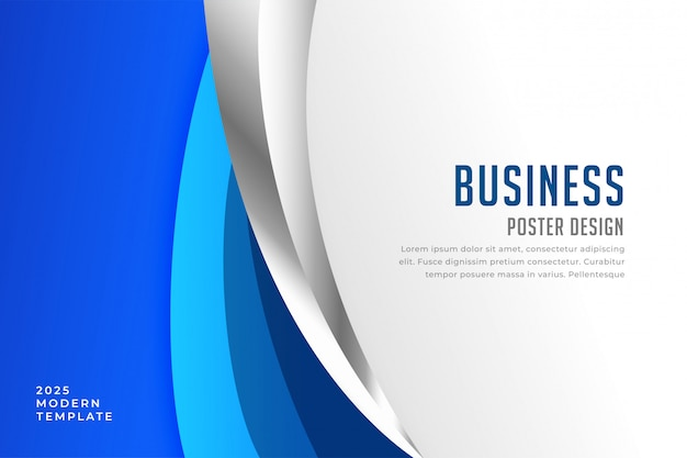 Modern business cover presentation design template