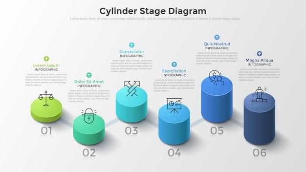 Современное знамя вариантов стиля цилиндра дела 3d.