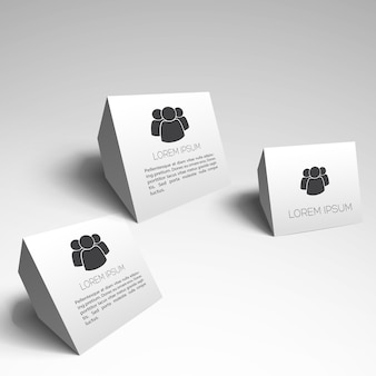 Modern business elements on white background