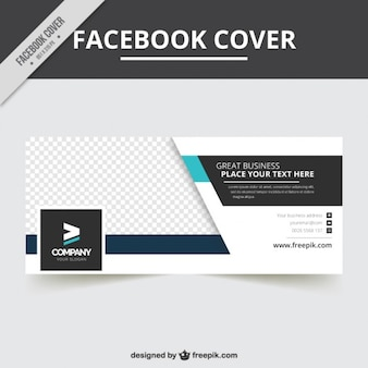 Modern business facebook cover for business