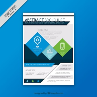 Modern business flyer in abstract style