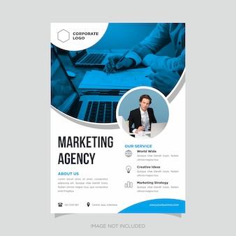 Modern business flyer design template vector