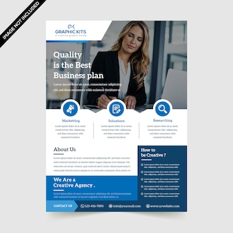 Modern business flyer premium vector