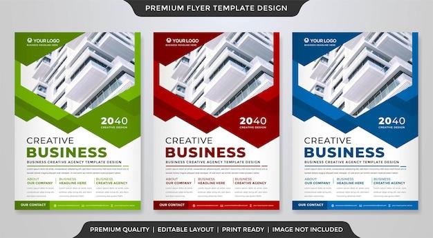 Modern business flyer template premium style