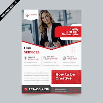 Modern business flyer template premium vector