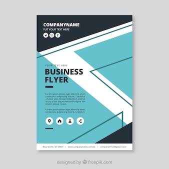 Шаблон современного бизнес-летательного аппарата с абстрактным дизайном