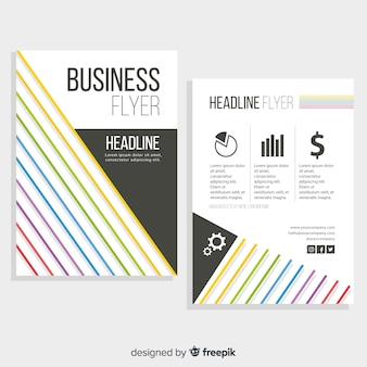 Modern business flyer template with abstract design
