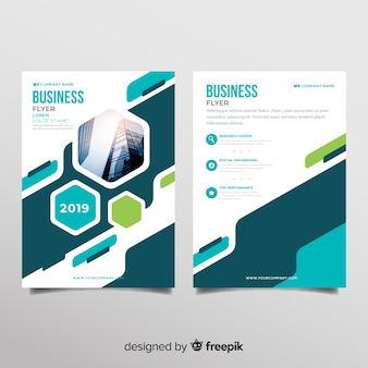 modern business flyer template with abstract shapes - Free Flyer Design Templates