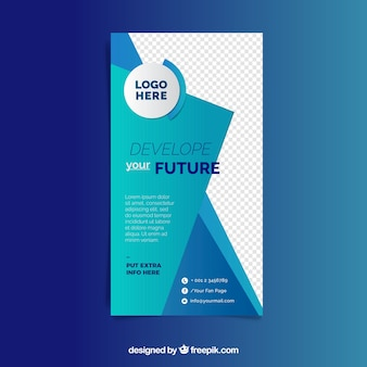 Modern business flyer template with abstract style