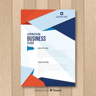 Modern business flyer template with flat design