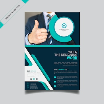 Modern business flyer template with photo