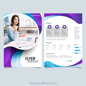 Business flyer vectors photos and psd files free download modern business flyer template accmission Gallery