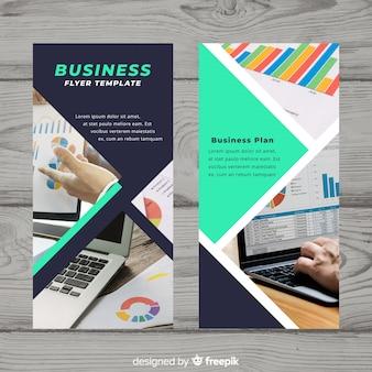 Modern business flyer template