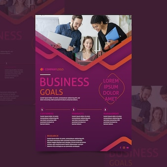 Современный бизнес флаер шаблон