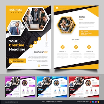 Modern business flyer template