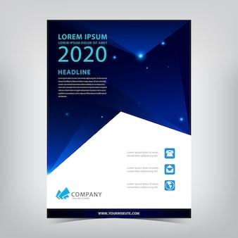 Modern business flyer template.