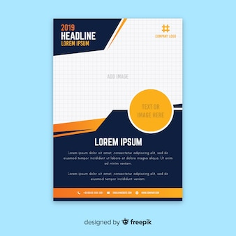 Modern business flyer with abstract design