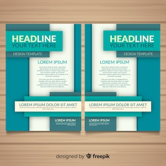 Modern business flyer with flat design