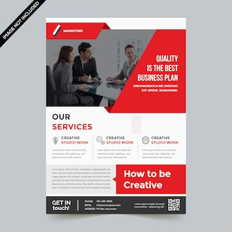 Modern business flyer.