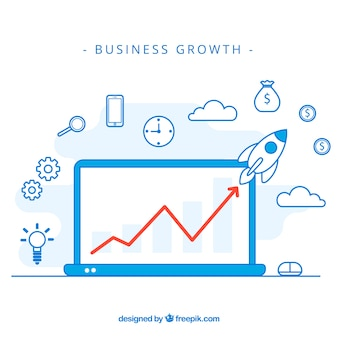 Modern business growth concept