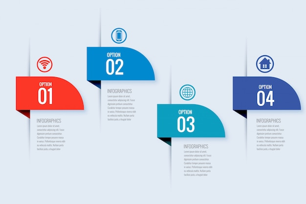 Modern business infographic banner design
