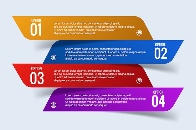 Modern business infographic concept with 4 steps banner design