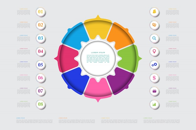 Modern business infographic element template