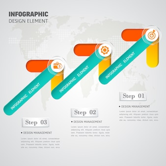 Modern business infographic options template design.