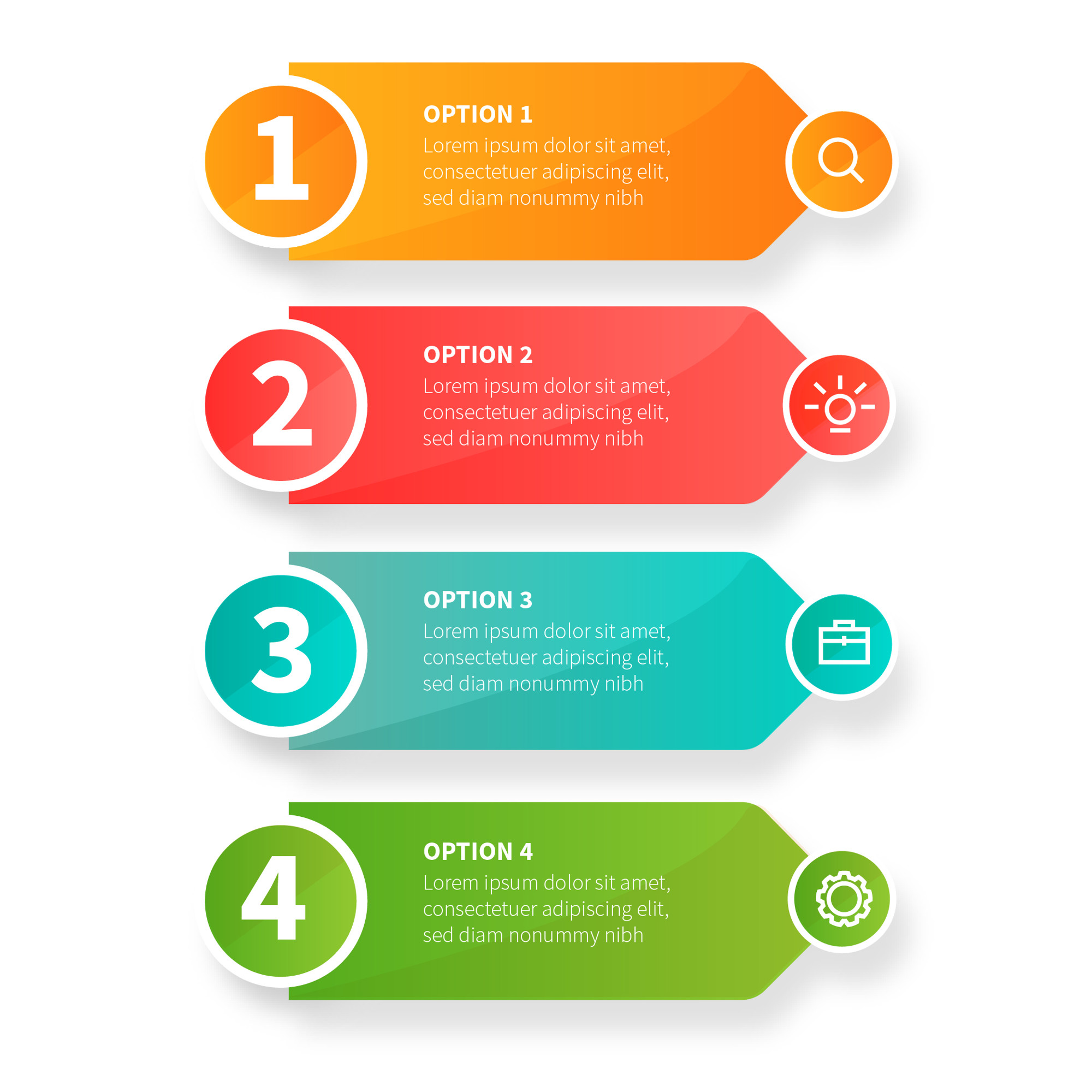 Modern business infographic steps with business icons
