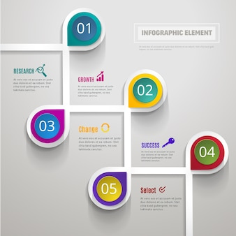 Modern business infographic template 4 options design.
