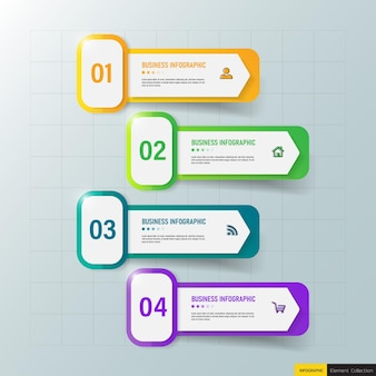 Modern business infographic template design