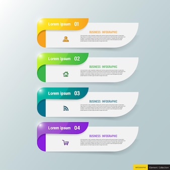 Modern business infographic template design