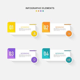 Современный бизнес-инфографический дизайн шаблона