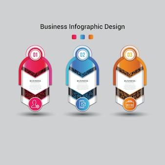 Современный бизнес-инфографический шаблон