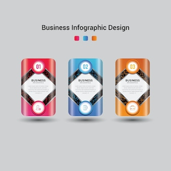 Modern business infographic template