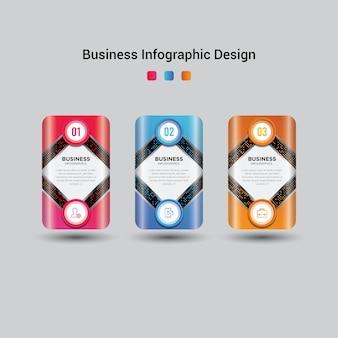 현대 비즈니스 infographic 템플릿