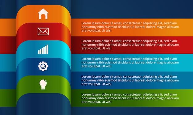 Современный бизнес инфографики шаблон.