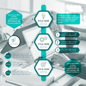 Modern business infographic with image