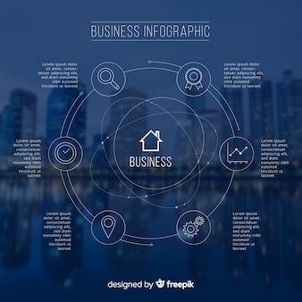 Modern business infographic with photo
